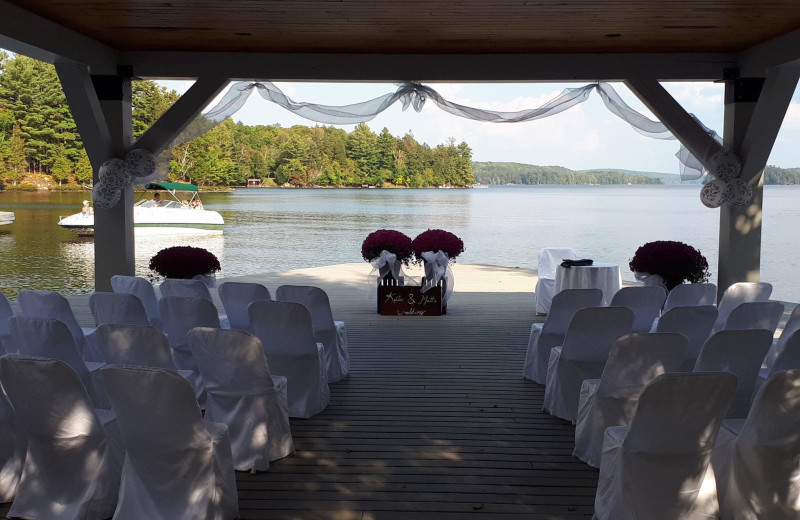 Weddings at Port Cunnington Lodge & Resort.