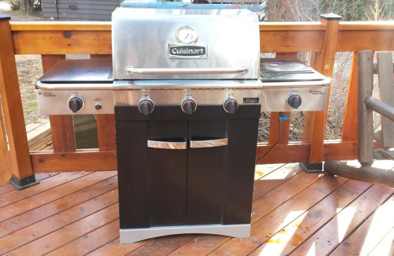 Cabin grill at Johnston Canyon Resort.