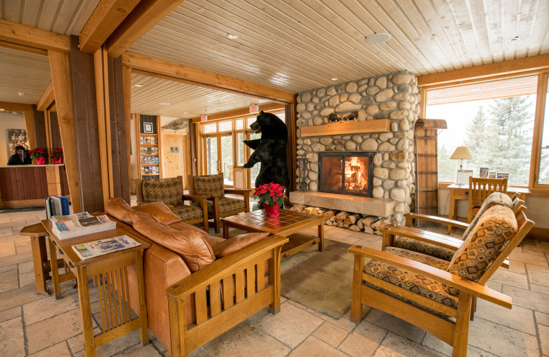 Lobby at Hidden Ridge Resort.