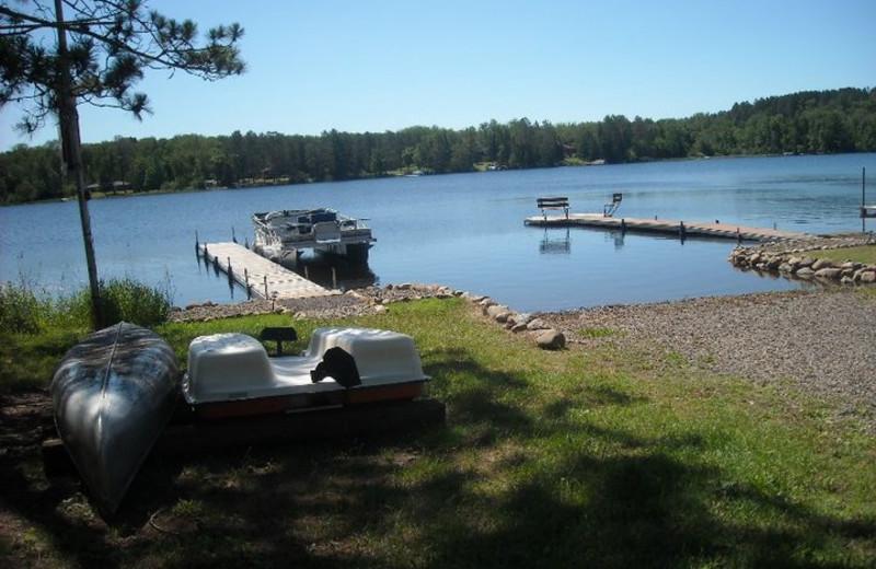 Lake view at Soft Pines Resort.