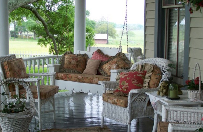 Porch view at Somewhere In Time B & B.