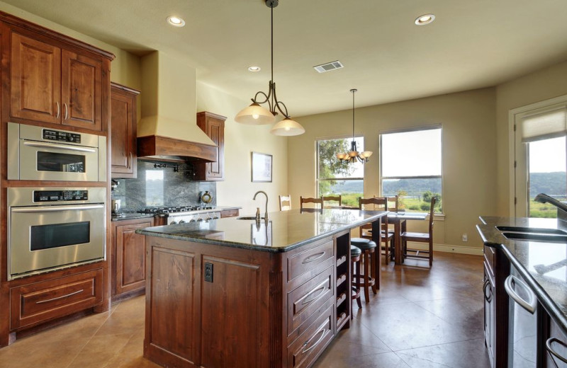 Kitchen at Hill Country Ranch at Lake Travis.