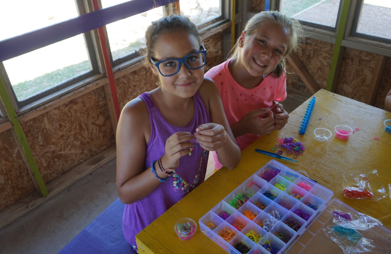 Arts and crafts at Camp Champions on Lake LBJ.