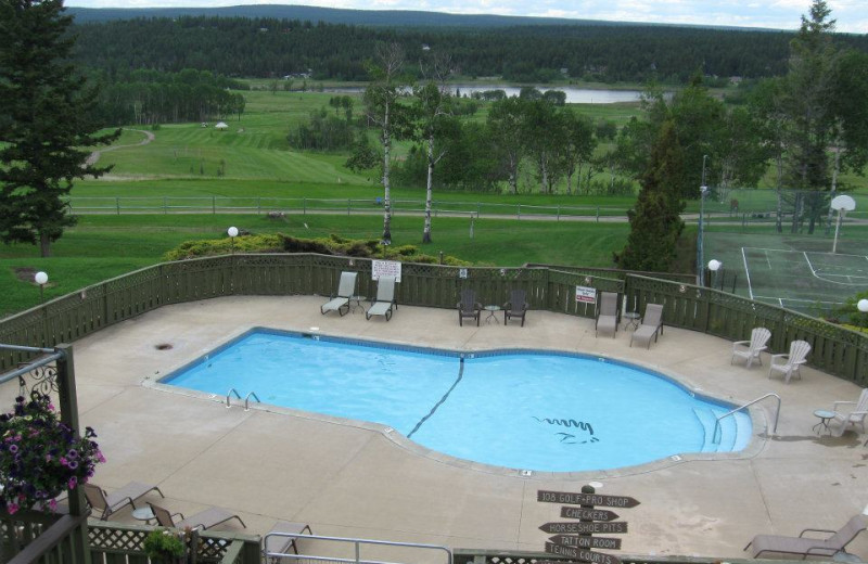 Outdoor pool at The 108 Resort.