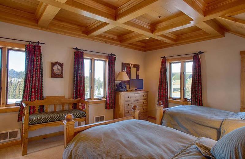 Vacation rental bedroom at Grand Targhee Resort.