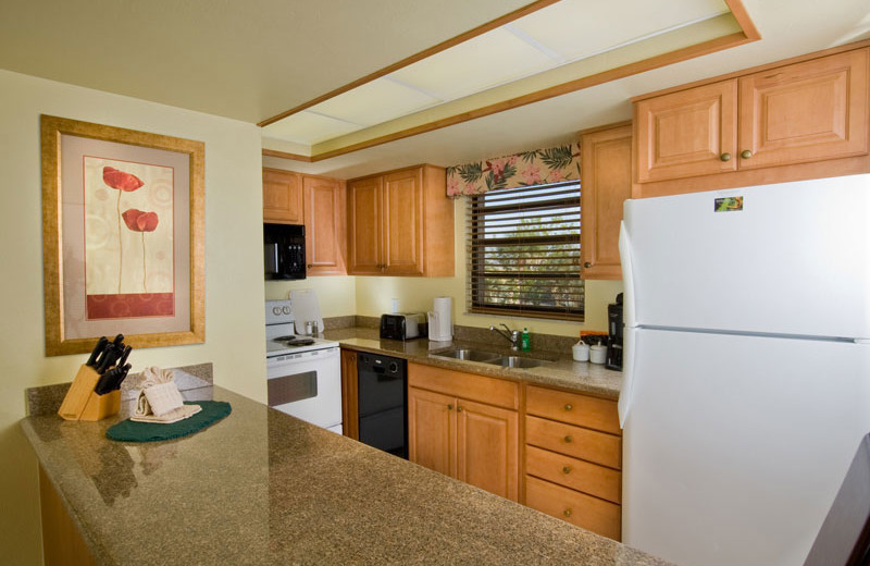 Kitchen in Unit at Park Shore Resort