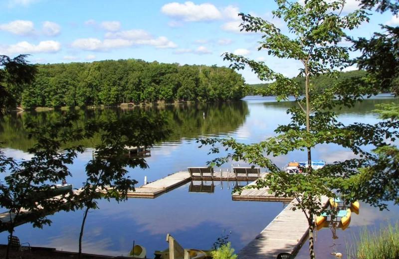 Lake view at Ross' Teal Lake Lodge & Teal Wing Golf Club.
