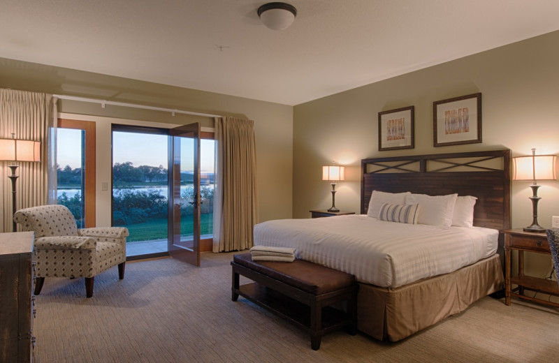 Guest room at Madden's on Gull Lake.