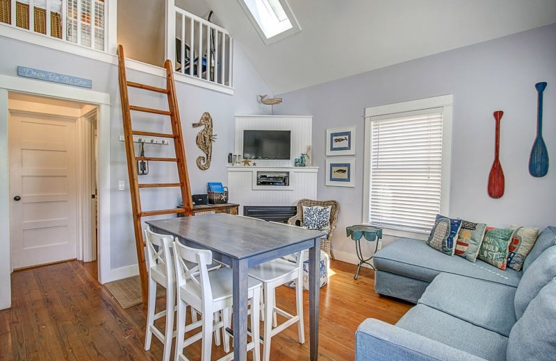 Rental interior at Seabrook Cottage Rentals.