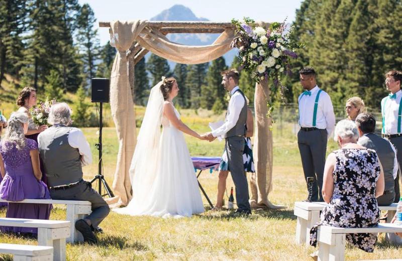Weddings at Hardscrabble Ranch.