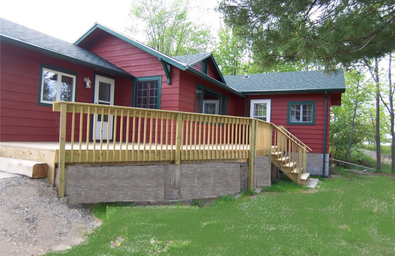 Cabin exterior at Kabetogama Lake Association.