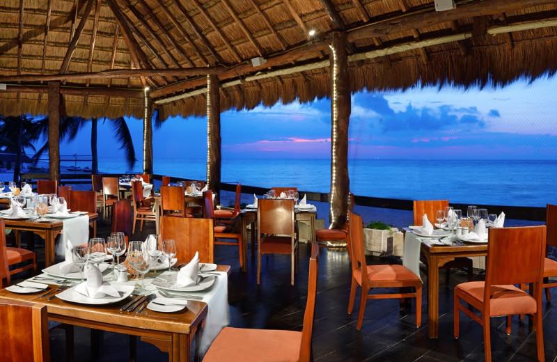 Dining at Melia Cozumel All Inclusive Golf & Beach Resort.