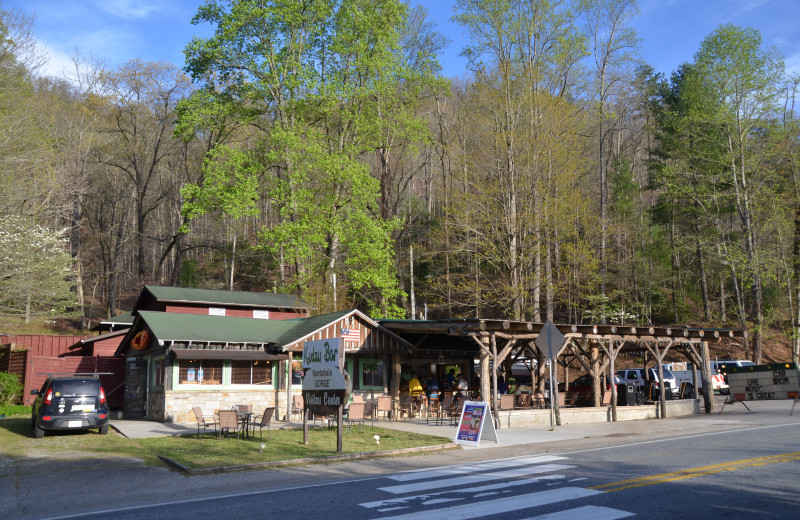 Dining at Nantahala Village.