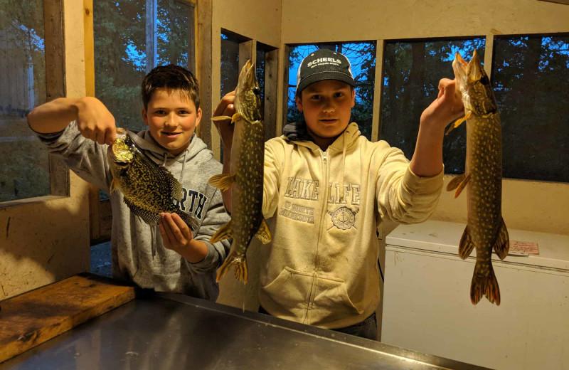 Fishing at Little Norway Resort.