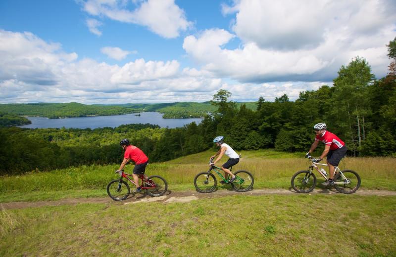 Biking at Sir Sam's Inn & Spa.