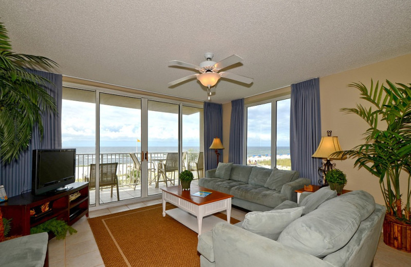 Rental living room at Dale E Peterson Vacations.