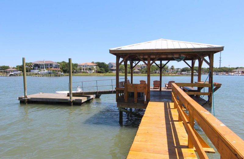 Rental dock at Island Realty.