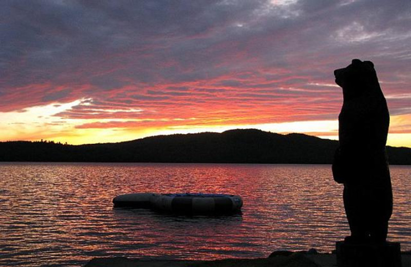 Beautiful sunset at Bald Mountain Camps Resort.