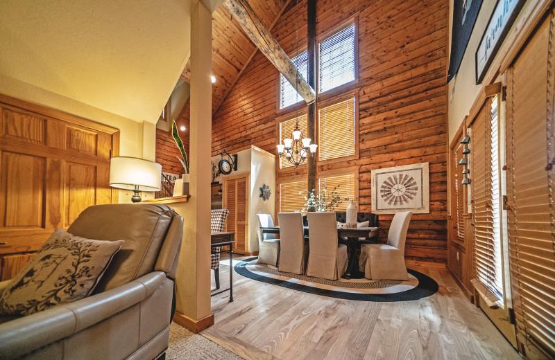 Cabin interior at Thousand Hills Vacations.