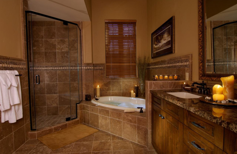 Guest bathroom at Pronghorn Resort.