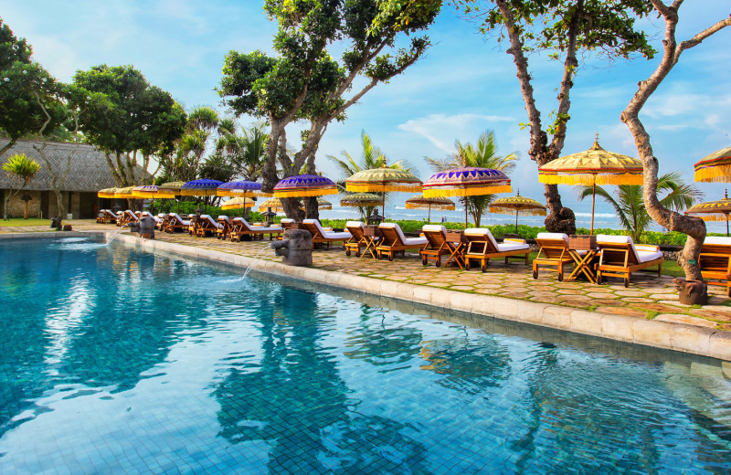Outdoor pool at The Oberoi Bali.