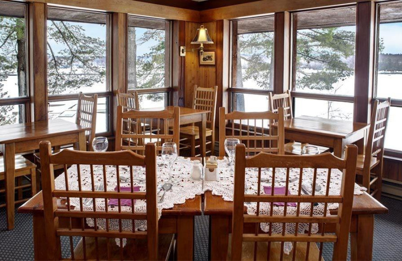 Dining at Westwind Inn on the Lake.