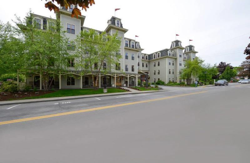 Exterior view of Bar Harbor Grand Hotel.