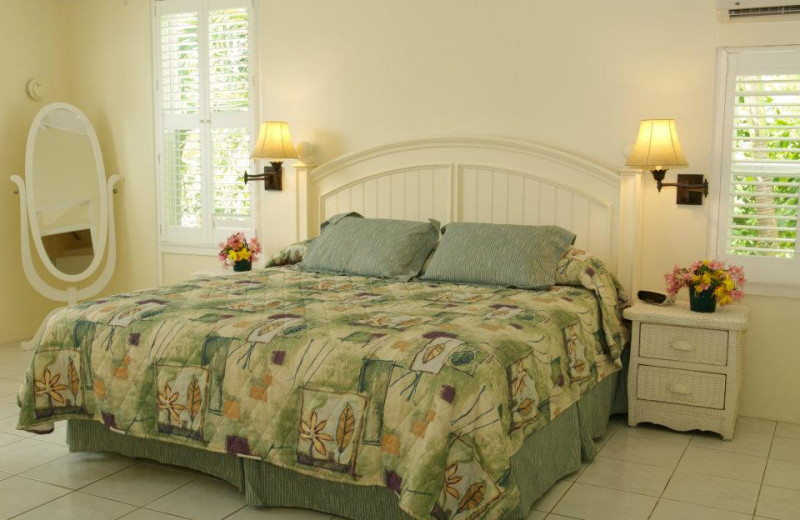 Guest room at Sugar Mill Hotel.