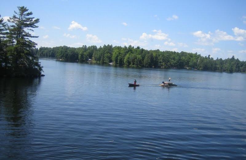 The lake at Bob's Lake Cottages.