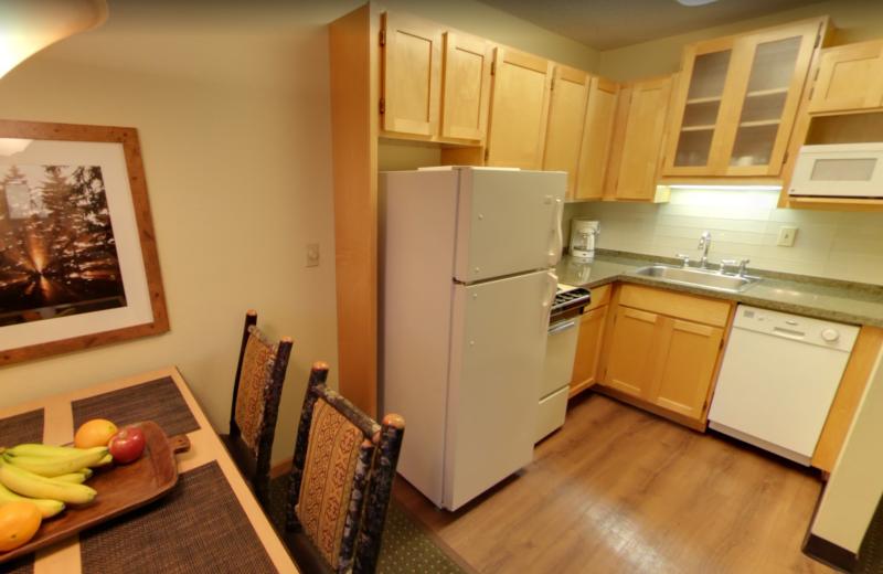 Guest kitchen at Stoneridge Resort.