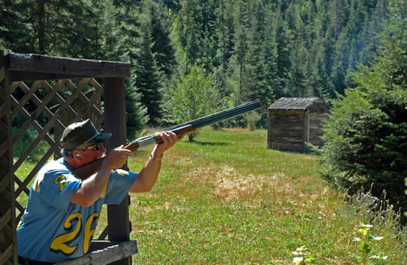Sporting clays at Red Horse Mountain Ranch.