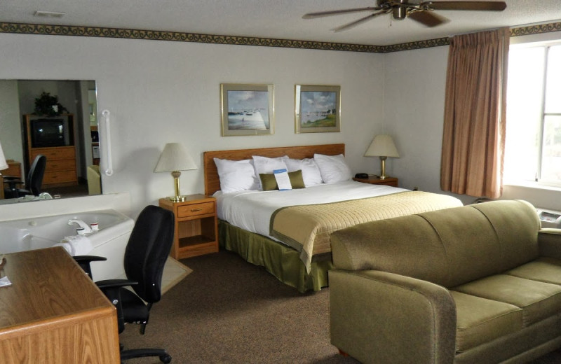 Guest room at Baymont Inns and Suites Rockford.