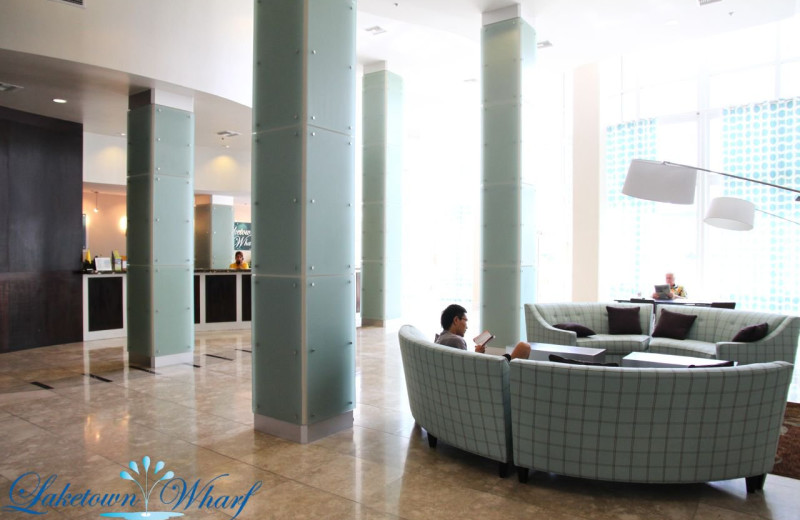 Lobby at Laketown Wharf.