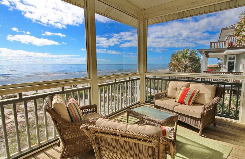 Rental balcony at Resort Vacation Properties of St. George Island.