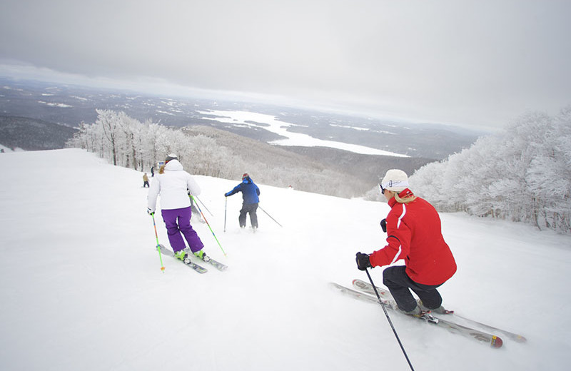 Skiing near Sunapee Harbor Cottages.