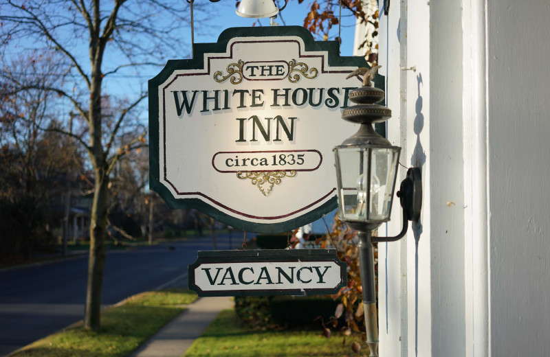 Exterior view of The White House Inn.