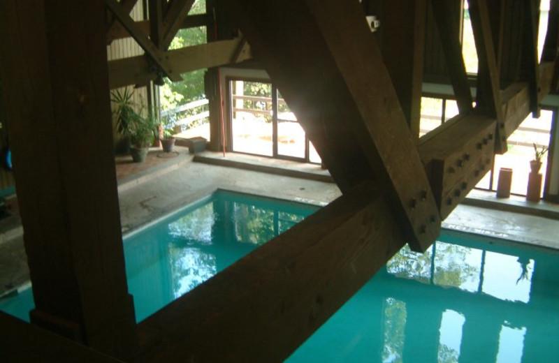 Indoor pool at Benmiller Inn.