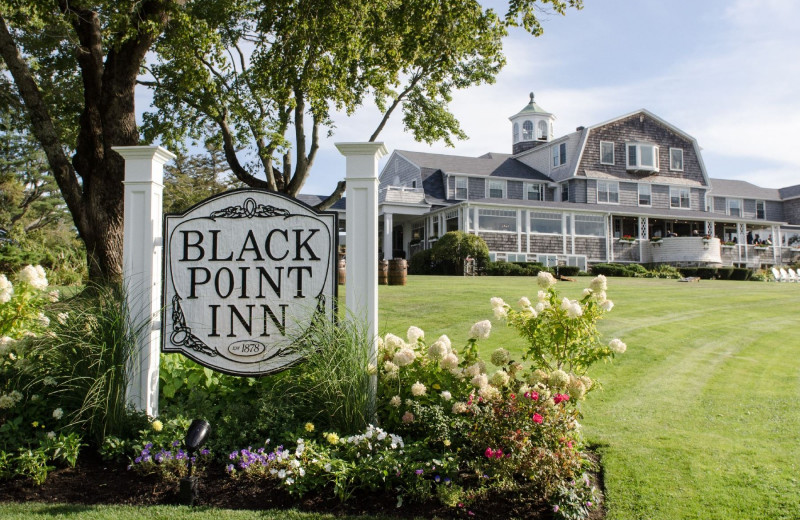 Exterior view of Black Point Inn.