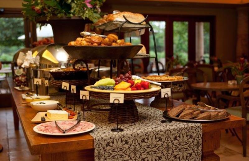 Breakfast buffet at Villagio Inn and Spa.