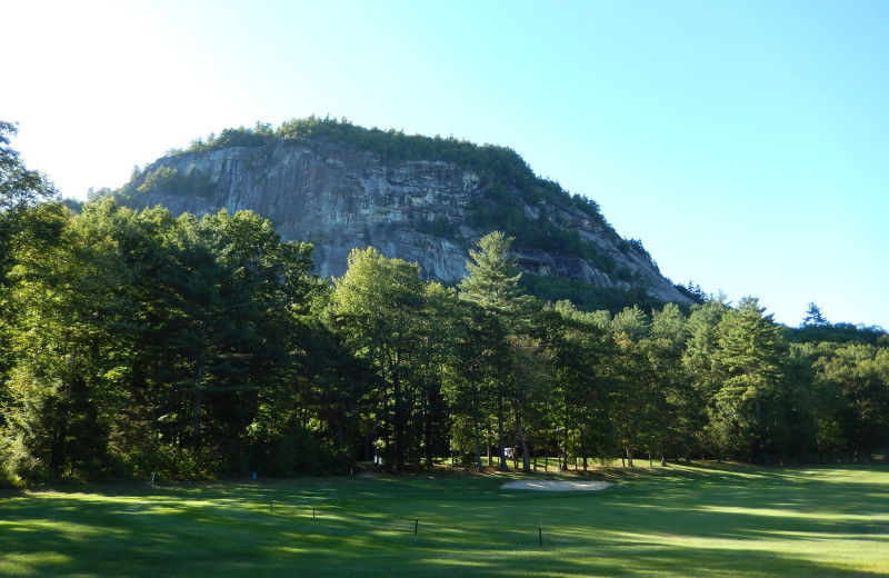 Golf course at Cathedral Ledge Resort.
