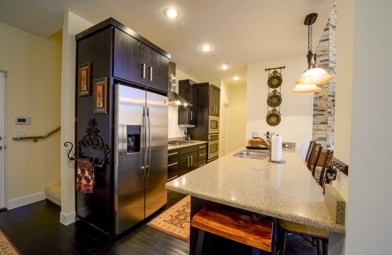 Rental ktichen at Family Time Vacation Rentals.