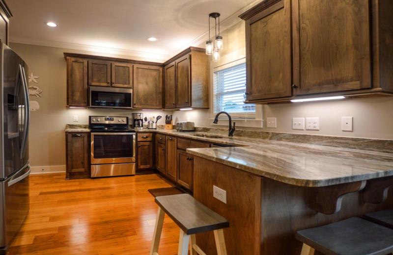 Rental kitchen at Luna Beach Properties.