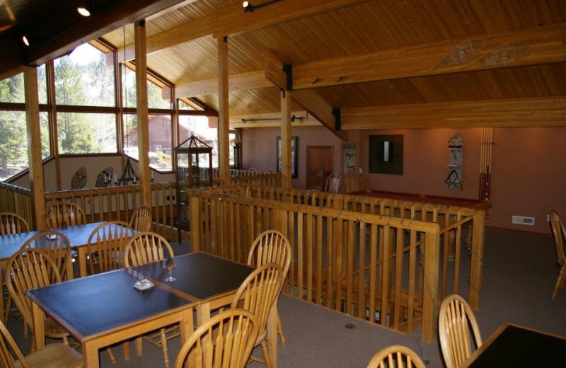 Dining at Bear Creek Lodge.