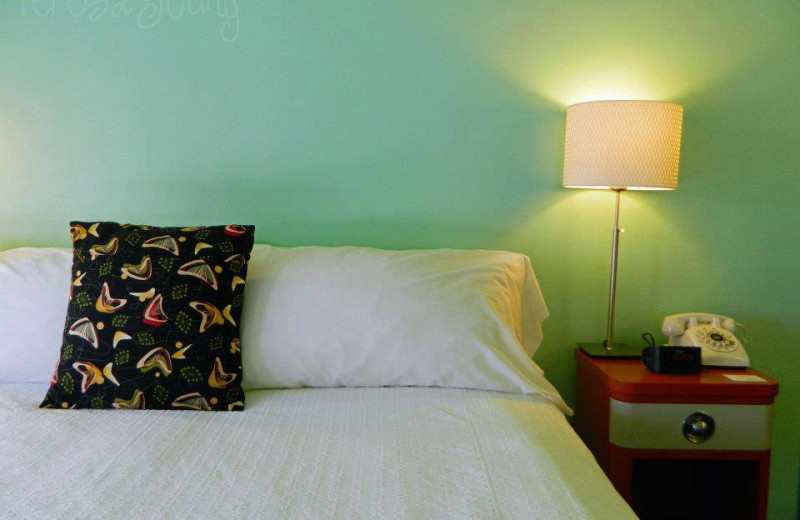 Guest Room at the Holiday Music Motel