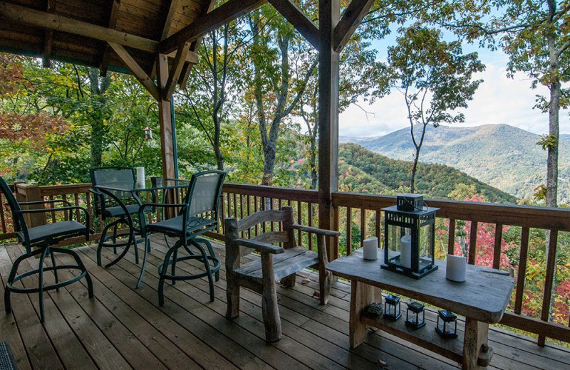 Rental deck view at Smoky Mountain Retreat Realty.
