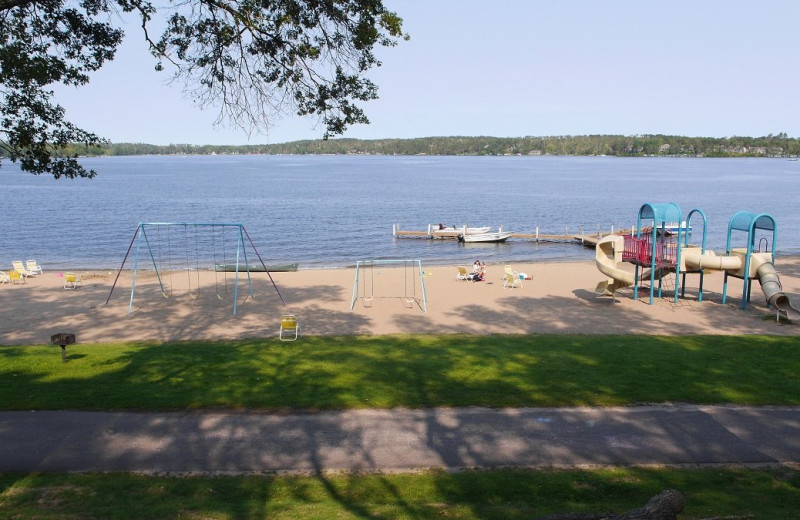 Beach at Cragun's Resort and Hotel on Gull Lake.