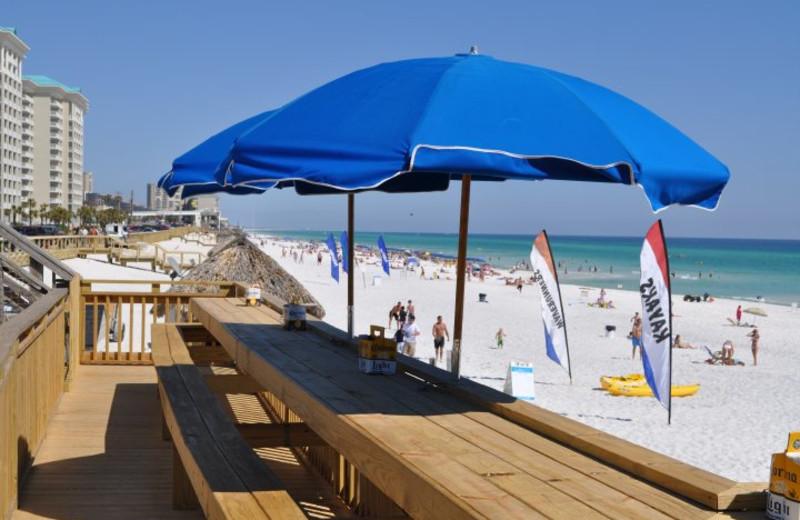 Picnic area at Seascape Resort.