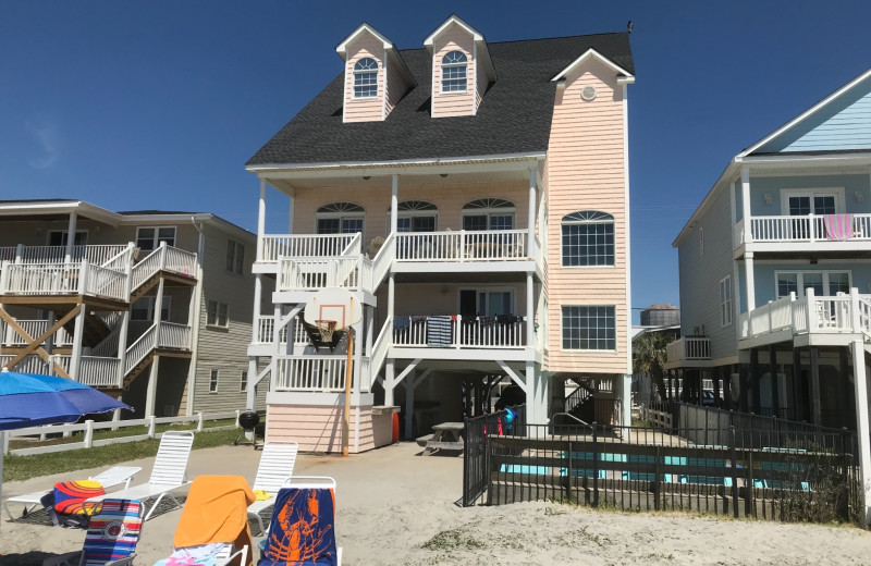 Exterior view of Cherry Grove Beach Houses.