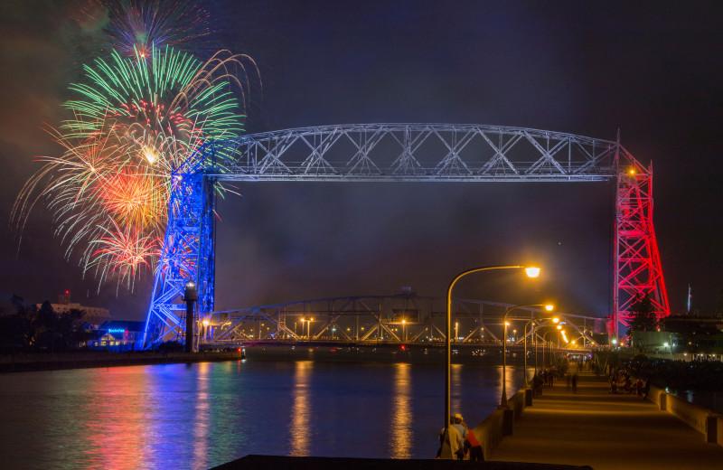 Fireworks at Comfort Suites Canal Park.