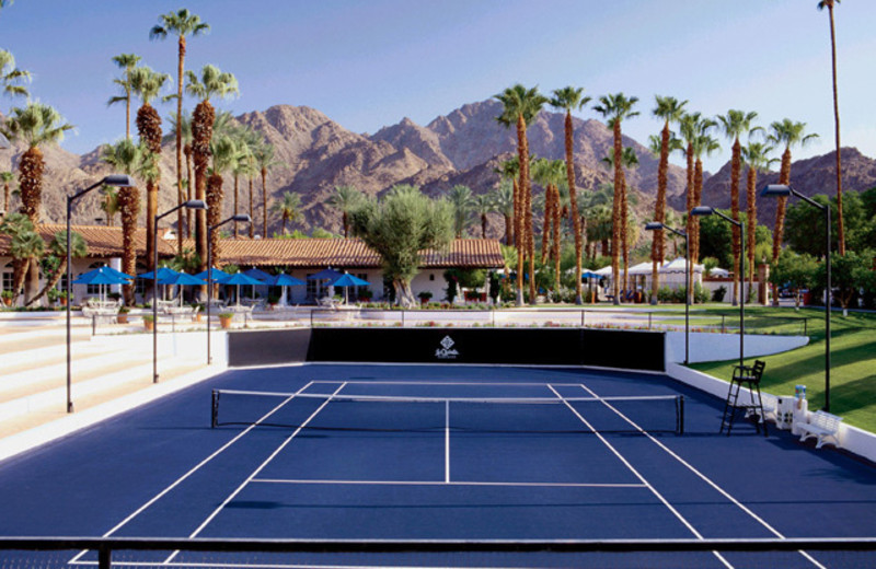 Tennis court at La Quinta Resort and Club.
